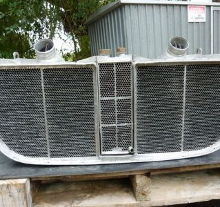 Completed radiator ready for delivery
